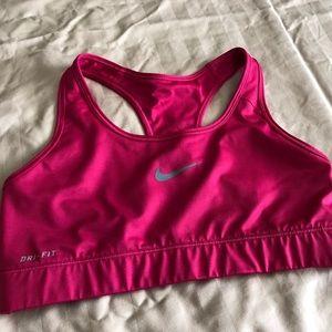 Nike dri-fit pink sports bra